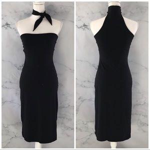 SUSANA MONACO Tyed High Neck Bodycon LB Dress